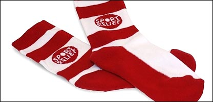 The Sport Relief socks that can be purchased for �2
