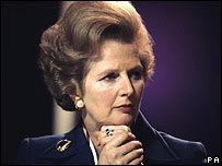 Margaret Thatcher in 1977