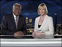 Sir Trevor McDonald and Julie Etchingham