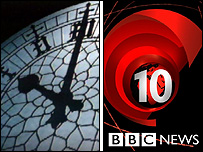 ITV and BBC news titles