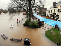 Flooding in Upton-upon-Severn