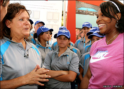 Evonne Goolagong and Serena Williams