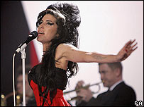 Amy Winehouse at Brit Awards 2007