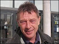 Andy Kershaw outside the High Bailiff's Court