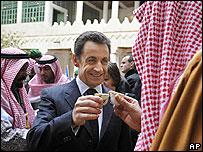 Nicolas Sarkozy in Saudi Arabia