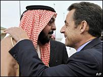 Sheikh Khalifa bin Zayed al-Nahayan and President Sarkozy