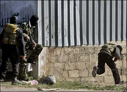 Palestinian militants in Gaza City
