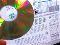 iTunes website and a CD