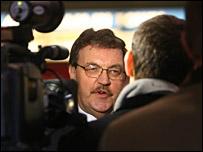 Northern Rock chairman Bryan Sanderson at the Newcastle Metro Arena
