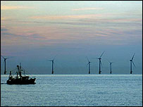 Scroby Sands off-shore windfarm