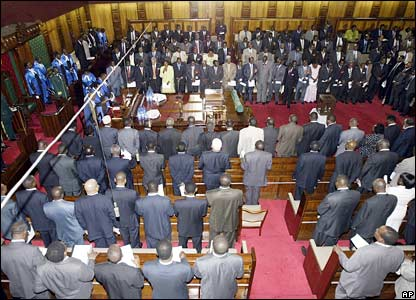 Kenyan MPs gather for the opening of the parliament in Nairobi