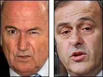 Fifa president Sepp Blatter and Uefa president Michel Platini
