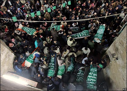 Collective funeral at Omari mosque, Gaza city