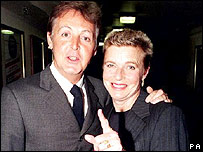 Sir Paul and Linda McCartney in 1997