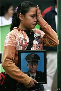 Lina S�nchez, sobrina del polic�a Elkin Hern�ndez, reh�n de las FARC