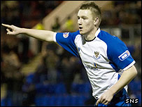 Andy Jackson was on target for St Johnstone