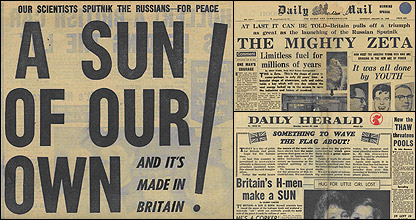 Newspaper headlines (BBC)