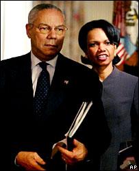 Colin Powell and Condoleezza Rice in 2004