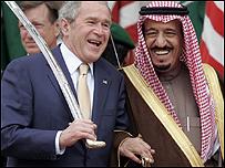 جورج بوش وسلمان بن عبد العزيز