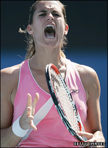 2006 champion Amelie Mauresmo is also through, but only after wasting nine match points against Yaroslava Shvedova