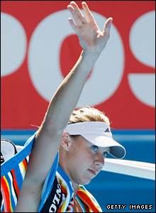 But home hope and Melbourne resident Alicia Molik waves the tournament farewell after losing to Nicole Vaidisova