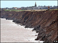 Eroding coast. Image: PA