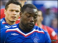 Rangers striker Jean-Claude Darcheville