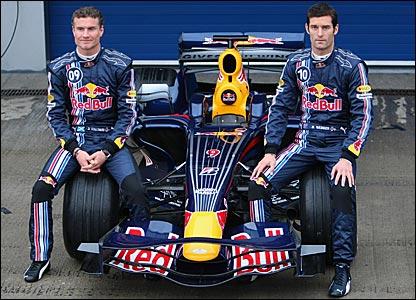 Red Bull's David Coulthard and Mark Webber