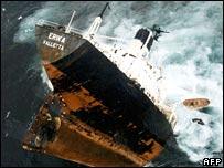 The Erika sinking