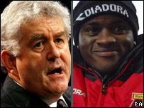 Rhodri Morgan and Watford footballer Al Bangura
