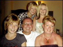 Garry Newlove and family