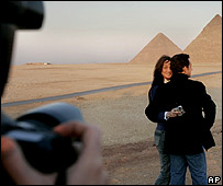 Nicolas Sarkozy and Carla Bruni in Egypt