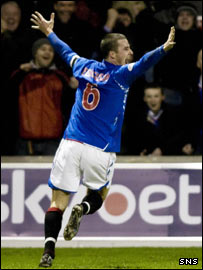 Barry Ferguson celebrates putting Rangers ahead