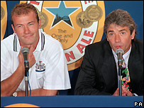 Alan Shearer and Kevin Keegan
