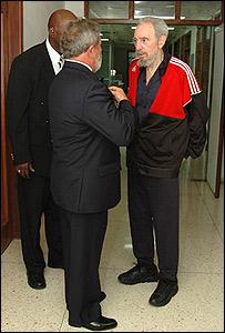 Fidel Castro, Luis Inácio Lula da Silva y un traductor