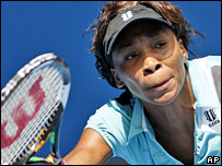 Number eight seed Venus Williams
