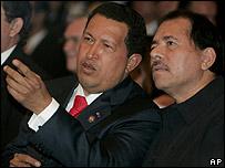Hugo Ch�vez y Daniel Ortega