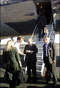 Matthew Price boards Air Force One