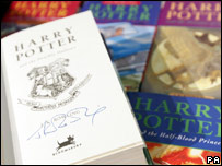 Signed Harry Potter books