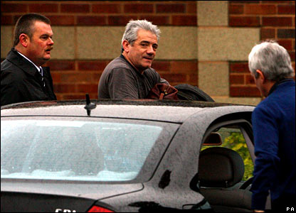 Kevin Keegan arrives at the Longbenton training ground on Thursday