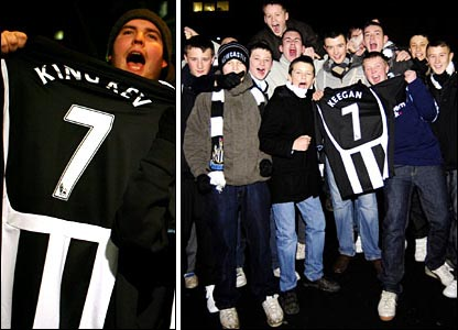 Some of the so-called 'Geordie Nation' were dancing in the streets on hearing Keegan, 56, was returning to St James' Park