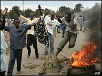 Protests in Kisumu, western Kenya