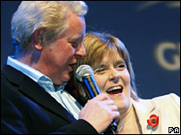 Dougie Donnelly and Nicola Sturgeon