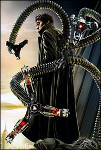 Alfred Molina as Doc Ok in Spider-Man 2. (Pic: Columbia via Imagenet)