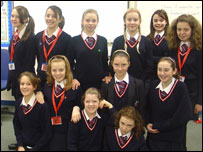 School Reporters from Hillview School for Girls in Tonbridge, Kent