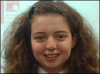 Jessica, 13, from Hillview School for Girls in Tonbridge, Kent