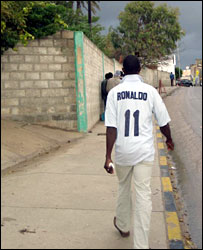An African immigrant in Tripoli, Libya