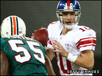 Eli Manning in action for the Giants