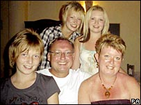 The Newlove family, with Garry in the centre