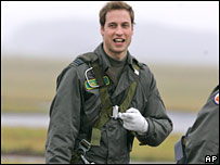 Prince William preparing for take off on 17 January 2008